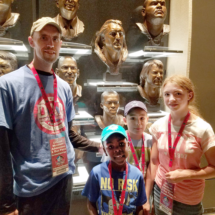 Jackie Boyd and his children at HOF
